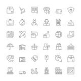 Line icons. Shipping and logistics Royalty Free Stock Photos