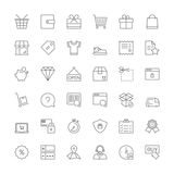 Line icons. Shopping Stock Photo