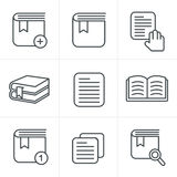 Line Icons Style  Book Icons Set Royalty Free Stock Photos