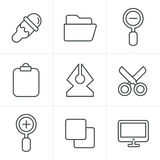 Line Icons Style Graphic design icons Stock Photos
