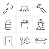 Line Icons Style  Icons set Royalty Free Stock Photos