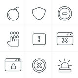 Line Icons Style  Security Stock Photos