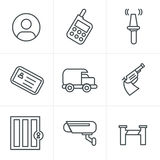 Line Icons Style  Security Icons Royalty Free Stock Photos