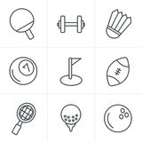 Line Icons Style Sport icons Set Stock Photos