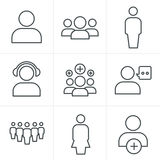 Line Icons Style team icon set Stock Images