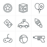 Line Icons Style  toy icons Stock Photos
