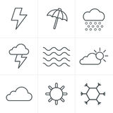 Line Icons Style  weather  Icons Set Stock Photo