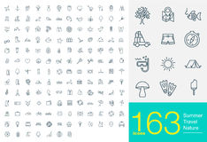 163 line icons Stock Illustration