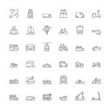 Line icons. Transport Stock Photography