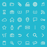 Line icons. Vector set of line icons for your web design Stock Images
