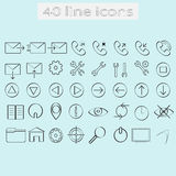 Line icons Stock Photos