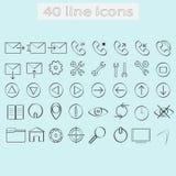 Line icons Stock Photos