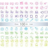 Line icons for Web and Mobile. Light Stock Photos