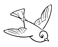 Line Illustration Of A Bird Stock Photo