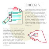 Line illustration of a checklist Royalty Free Stock Photos