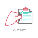 Line illustration of a checklist Royalty Free Stock Photo