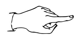 Line Illustration Of A Finger /Eps Stock Photos