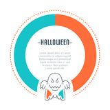 Website Banner and Landing Page of Halloween. Royalty Free Stock Photo