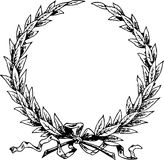 Line Illustration Of A Laurel Wreath /Eps Royalty Free Stock Photography