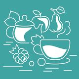 Website Banner and Landing Page of Tea Time. Stock Photography