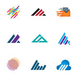 Line inspiration professional design symbol fast triangle logo speed icons Stock Photo