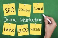 On-line-Internet-Marketing Lizenzfreie Stockbilder
