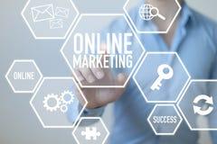 On-line-Internet-Marketing lizenzfreie stockfotos