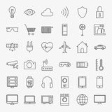 Line Internet of Things Design Icons Big Set Stock Image