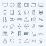 Line Internet of Things Icons Set Stock Photography