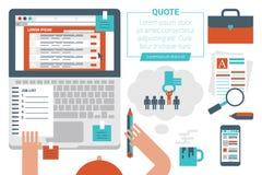 On-line--Job Searching Concept Lizenzfreies Stockbild