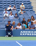 Line judge during first round match between Venus Williams and Kirsten Flipkens at US Open 2013 Stock Images