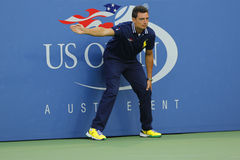 Line judge during match at US Open 2014 at Billie Jean King National Tennis Center Royalty Free Stock Photography