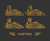 Line karting and go kart symbol Stock Photo