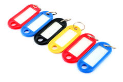A Line of Key Tags Stock Photo