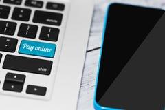 On-line-Kleinzahlungskonzept Stockbilder