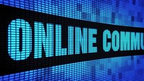 On-line-Kommunikations-Seite simsen das In einer Liste verzeichnen des LED-Wand-Anzeigetafel-Zeichen-Brettes stock footage