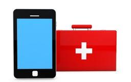 on-line-Konzept des Gesundheitswesens 3d Lizenzfreie Stockfotografie