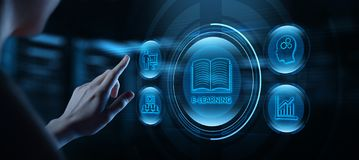 On-line-Kurskonzept E-Learning-Ausbildungs-Internet Webinar lizenzfreies stockbild
