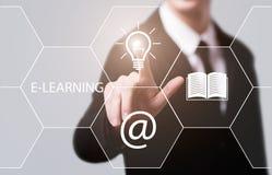 On-line-Kurskonzept E-Learning-Bildungs-Internet-Technologie Webinar stockfotografie