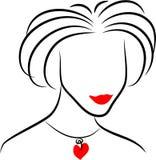 Line Lady royalty free illustration