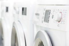 Line of laundry machines Royalty Free Stock Photo