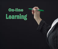 On-line Learning Teacher Stock Photos