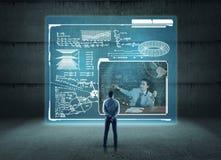 On-line-Lektionen Das Konzept des on-line-Kurses Lizenzfreie Stockfotos