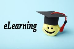 On-line-Lernen, Internet-Ausbildungskonzept Webinar Technologie Digital ELearning lizenzfreie stockfotos
