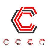 LINE LETTER C LOGO. Line letter logo c vector illustration