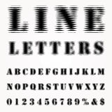 Line letters Stock Images