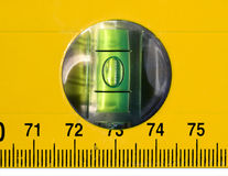 Line level. Yellow line level with ruler Stock Photography