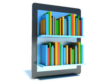 On-line library on the tablet Royalty Free Stock Photography