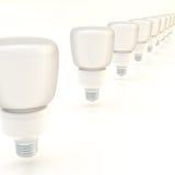 Line of light bulbs Stock Photography