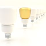 Line of light bulbs Royalty Free Stock Image